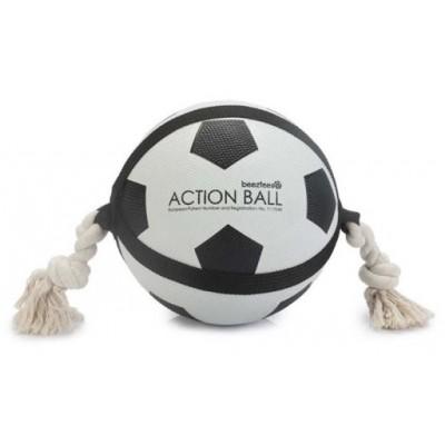 Beeztees Игрушка футбольный мяч с верёвкой 626709