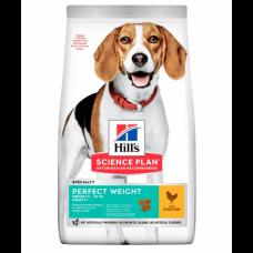 Hill's Science Plan Perfect Weight - сухой корм для взрослых собак средних пород для поддержания оптимального веса, с курицей