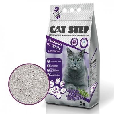 Cat Step Compact White Lavеnder комкующийся минеральный наполнитель с ароматом лаванды (арт. ТР 20313009 )