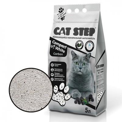 Cat Step Compact White Carbon комкующийся минеральный наполнитель для кошачьих туалетов (арт. ТР 20313010)