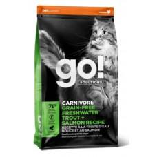 GO! Carnivore Trout&Salmon Cat Recipe 45/18 - беззерновой корм для котят и кошек с чувствительным пищеварением с форелью и лососем НОВИНКА!!