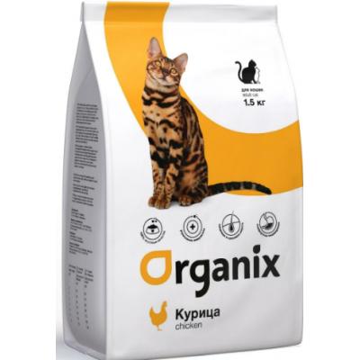 Organix Adult Cat Chicken - натуральный корм для кошек с курочкой