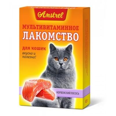"Amstrel Лакомство мультивитаминное для кошек ""Норвежский лосось"" 90 табл"