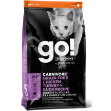 GO! CARNIVORE 46/18 беззерновой корм для котят и кошек - 4 вида мяса: курица, индейка, утка и лосось