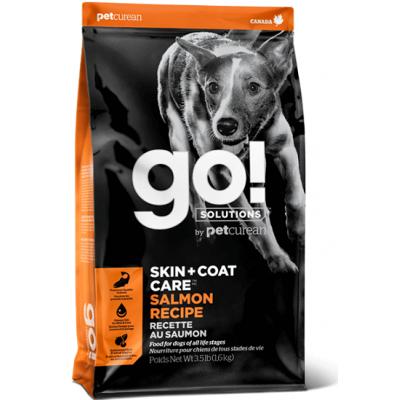 GO! SKIN + COAT Salmon Recipe 22/12 корм для щенков и собак со свежим лососем и овсянкой