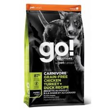 GO! CARNIVORE Puppy Recipe 36/18 беззерновой корм для щенков всех пород 4 вида мяса: индейка, курица, лосось, утка