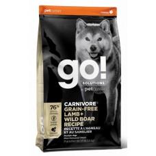 GO! CARNIVORE GF Lamb + Wild Boar Recipe DF 32/16 беззерновой корм для собак всех возрастов c ягненком и мясом дикого кабана