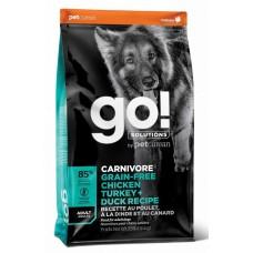 GO! CARNIVORE 34/16 беззерновой корм для взрослых собак всех пород 4 вида мяса: индейка, курица, лосось, утка