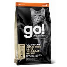GO! CARNIVORE GF Lamb + Wild Boar Recipe CF 42/15 беззерновой корм для котят и кошек с ягненком и мясом дикого кабана