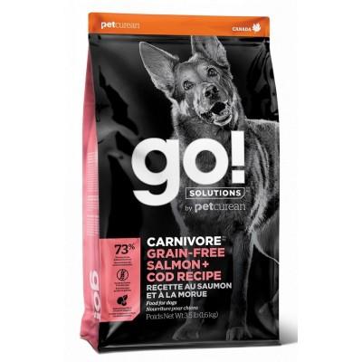 GO! CARNIVORE GF Salmon + Cod Recipe DF 34/16 беззерновой корм для собак всех возрастов c лососем и треской