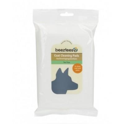 """Beeztees """"Tea tree"""" гигиенические салфетки для шерсти собак с ароматом чайного дерева, 40 шт"""