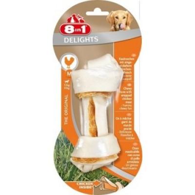 8 in1 DELIGHTS M - косточка с куриным мясом для средних и крупных собак, 14.5 см. (арт. DAI102434-B)