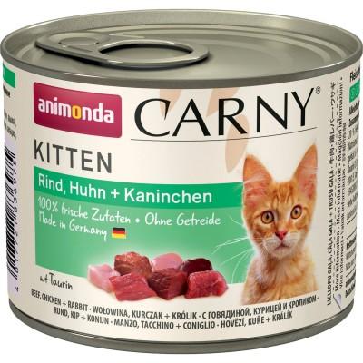 Carny Kitten - консервы для котят с говядиной, курицей и кроликом (200 г, 400 г) (арт. ВЕТ83697, ВЕТ83713)