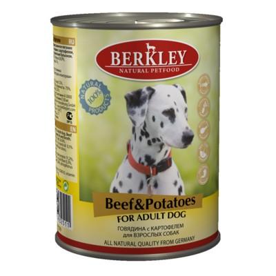Berkley консервы для взрослых собак с говядиной и картофелем, 400 гр.