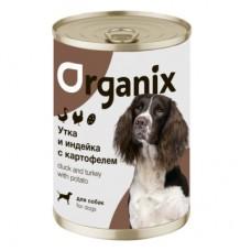 Organix - консервы для собак утка, индейка и картофель
