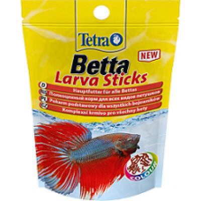 Корм в форме мотыля для петушков и других лабиринтовых рыб 5 гр. (арт. DAI 259317/709479) TetraBetta LarvaSticks