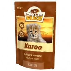 "Wildcat Karoo Kitten-пресервы для котят с мясом птиц и кролика ""Кару киттен"" 100 гр."