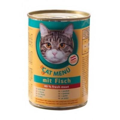 Cat Menu консервированный корм для взрослых кошек с рыбой, 415 гр. (20 шт.)