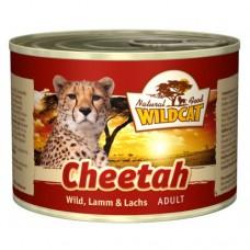 """Wildcat Cheetah-консервы для кошек с дичью,ягненком и лососем """"Читах"""" 200 гр."""