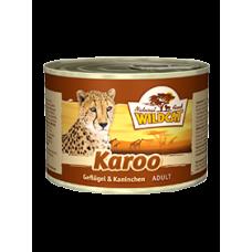 """Wildcat Karoo-консервы для взрослых кошек с мясом птиц и кролика """"Кару"""" 200 гр."""