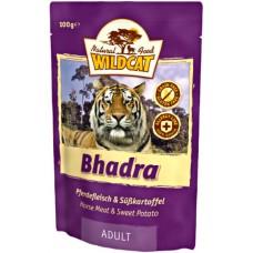 """Wildcat Bhadra-пресервы для кошек с кониной и сладким картофелем """"Бхадра"""" 100 гр."""