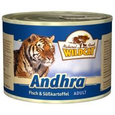 """Wildcat Andhra-консервы для кошек с рыбой и сладким картофелем """"Андхра"""" 200 гр."""