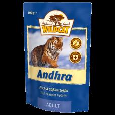 """Wildcat Andhra-пресервы для кошек с рыбой и сладким картофелем """"Андхра"""" 100 гр."""