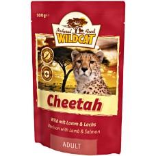 """Wildcat Cheetah-пресервы для кошек с дичью, ягненком и лососем """"Читах"""" 100 гр."""
