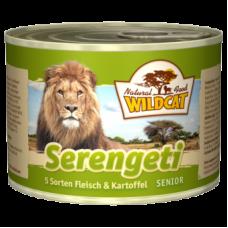 """Wildcat Serengeti Senior-консервы для пожилых кошек с 5 видами мясо и картофелем """"Серенгети сеньор"""" 200 гр."""
