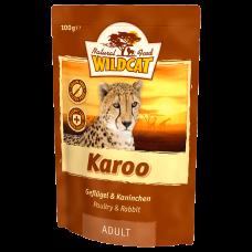 """Wildcat Karoo-пресервы для взрослых кошек с мясом птиц и кролика""""Кару"""" 100 гр."""