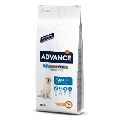 Advance Adult Maxi - сухой корм для взрослых собак крупных пород, курица и рис