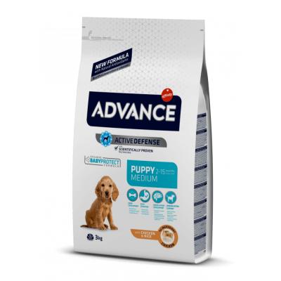 Advance Medium Puppy - сухой корм для щенков средних пород, курица и рис