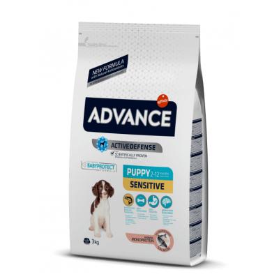 Advance Sensitive Puppy - сухой корм для щенков с чувствительным пищеварением, лосось и рис