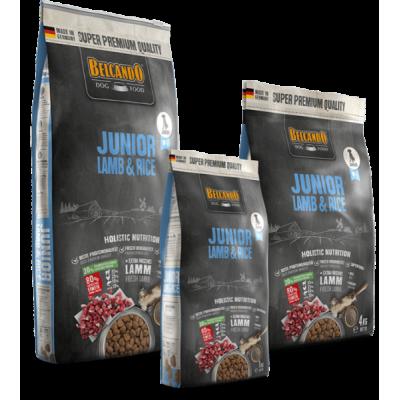 Belcando Junior Lamb & Rice - корм для щенков, склонных к аллерг. реакциям средних и крупных пород с 4-х месяцев (ягненок)