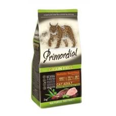 PRIMORDIAL ADULT GRAIN-FREE Duck and Turkey - беззерновой корм для взрослых кошек с уткой и индейкой