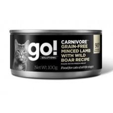 GO! Carnivore Grain Free Minced Lamb with Wild Boar - консервы для кошек беззерновые с рубленым мясом ягненка и дикого кабана
