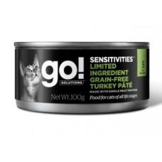 GO! Limited Ingredient Grain-Free Turkey Pâté for cats - консервы для кошек беззерновые с индейкой с чувствительным пищеварением