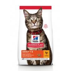 Hill's Science Plan - сухой корм для взрослых кошек для поддержания жизненной энергии и иммунитета, с курицей