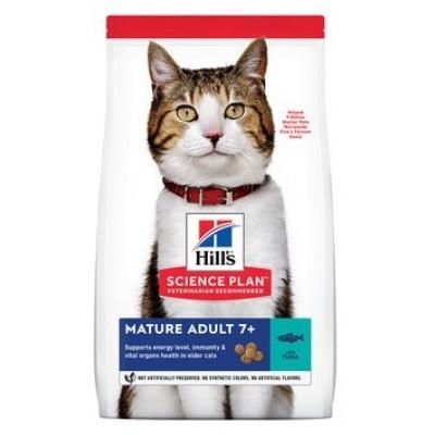 Hill's Science Plan - сухой корм для пожилых кошек (7+) для поддержания здоровья в период старения, с тунцом