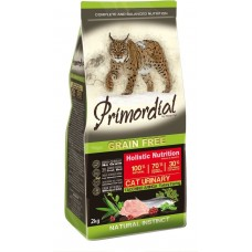 PRIMORDIAL Urinary GRAIN-FREE Turkey and Herring - беззерновой корм для кошек с индейкой и сельдью для профилактики мочекаменной болезни