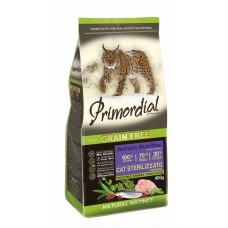 PRIMORDIAL ADULT GRAIN-FREE Turkey and Herring - беззерновой корм для стерилизованных кошек с индейкой и сельдью