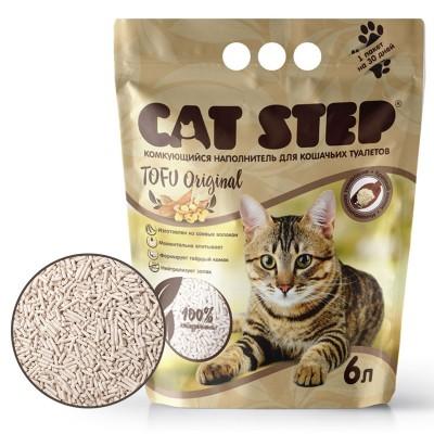 Cat Step tofu original - растительный комкующийся наполнитель из сои (арт. ТР 20333001)