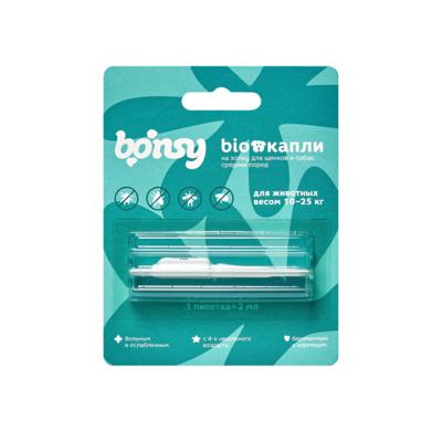 Bonsy антипаразитарные БИОкапли на холку для щенков и собак средних пород (10-25 кг)