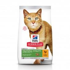 Hill's Science Plan Youthful Vitality - сухой корм для пожилых кошек (7+) для поддержания активности и жизненной энергии, с курицей