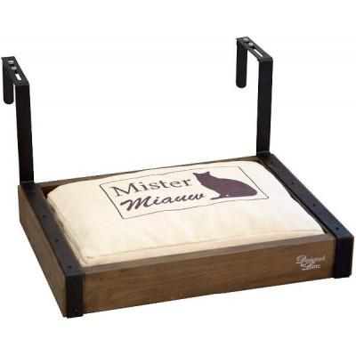 Beeztees Лежанка деревянная подвесная WULA, с подушкой, 40*30*18 см. (арт. 710246)