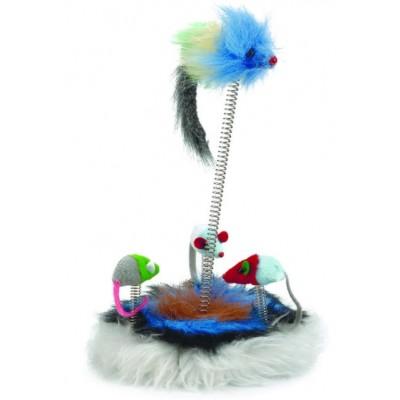 """Beeztees Игрушка """"Семейство мышей"""" с кошачьей мятой для кошек (арт. 425470)"""