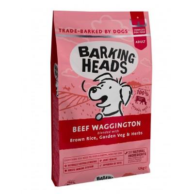 """Barking Heads Beef Waggington - сухой корм для собак, с говядиной и бурым рисом """"Вуф-строганов"""""""
