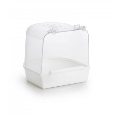 Beeztees Ванночка для птиц пластиковая белая 13*12*12 см (арт. ВЕТ 75001)