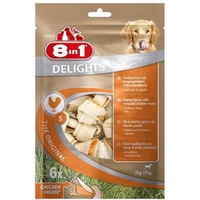 8 in 1 DELIGHTS S - косточки с куриным мясом для мелких и средних собак 11 см, 6 шт. (пакет) (арт. DAI102564-В)