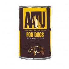AATU беззерновые консервы для взрослых собак с мясом дикого кабана и свининой, WILD BOAR & PORK, 400 г